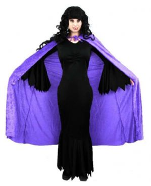 Gothic Black Vampiress Morticia plus size costume